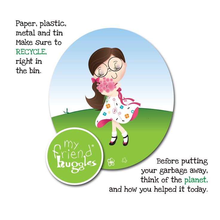 Recycling makes the world a more cheerful place. #hugglescares