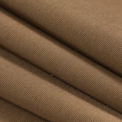 Brown Luminous Cotton/Rayon Twill Suiting Fabric by the Yard | Mood Fabrics