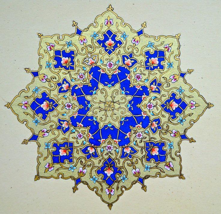 Student's work from the PSTA Islamic manuscript illumination course.