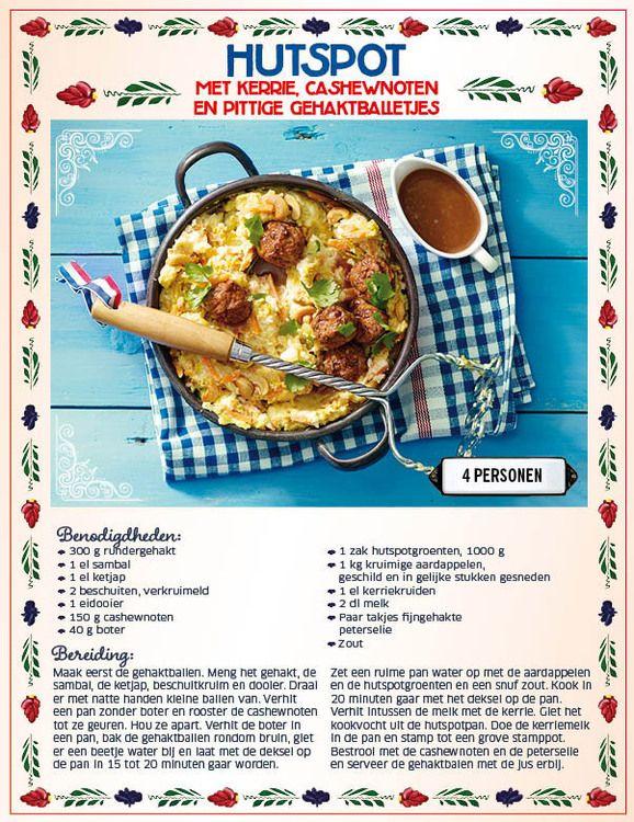 Lidl Hutspot met kerrie, cashewnoten en pittige gehaktballetjes- kan ook met Dés of vega gehakt.