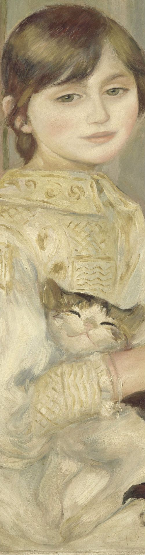 Pierre-Auguste Renoir - Julie Manet, also known as l'Enfant au chat (detail), 1887, Musée d'Orsay