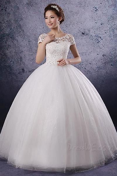 Свадебное платье с маленькими рукавами
