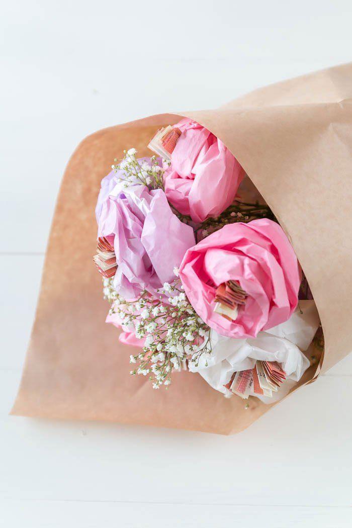 Geldgeschenk Zur Hochzeit Blumen Aus Papier Basteln Basteln Mit