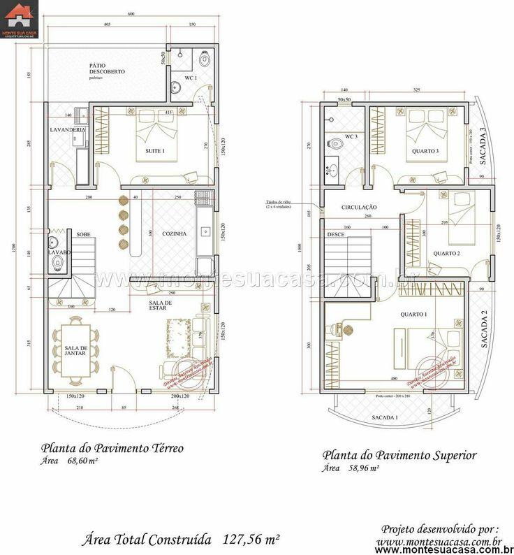 Plan de maison de 65m2 3d appartement f2 plan maison une for Appartement f2 design