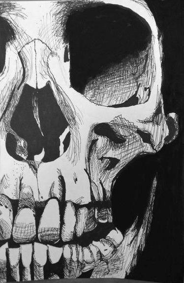skull drawing | Tumblr