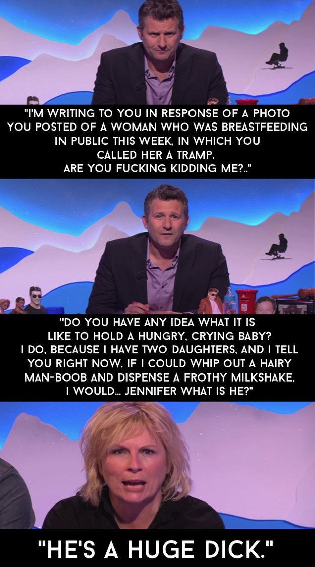 """When a mother was labelled a tramp on Facebook for breastfeeding in public so Adam read out a public letter to the person who wrote the comment. 