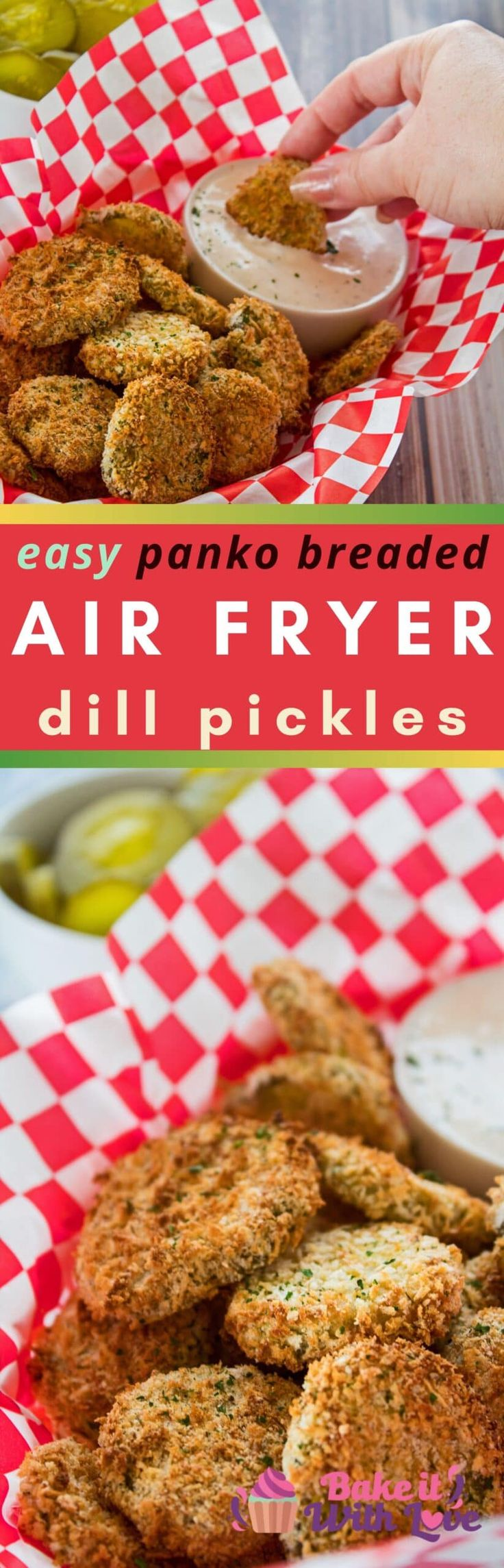 Jun 20, 2020 – Fantastically crispy Air Fryer Pickles are a delicious and healthier way to enjoy this popular fried dill…