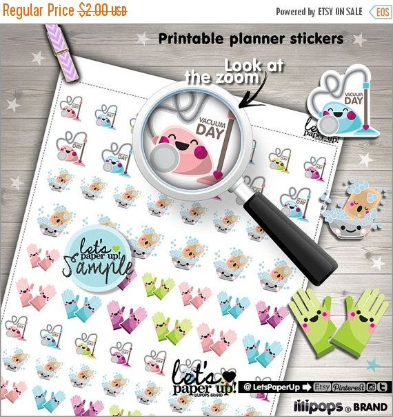 60%OFF - Clean Up Stickers, Printable Planner Stickers, Planner Stickers, Housekeeping, Kawaii Stickers, Printable Stickers, Planner Accesso