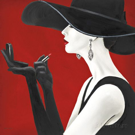 Haute Chapeau Rouge II Print by Marco Fabiano at AllPosters.com