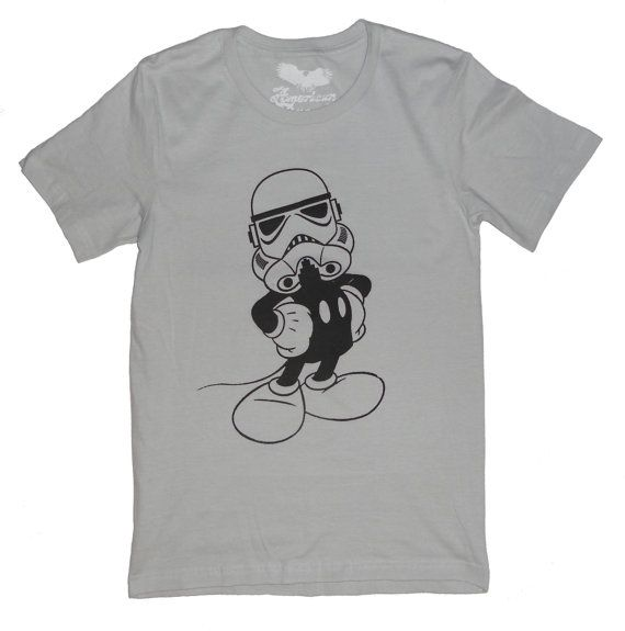Mickey  Star Wars T-shirt Mash-up Imperial by AmericanAnarchy