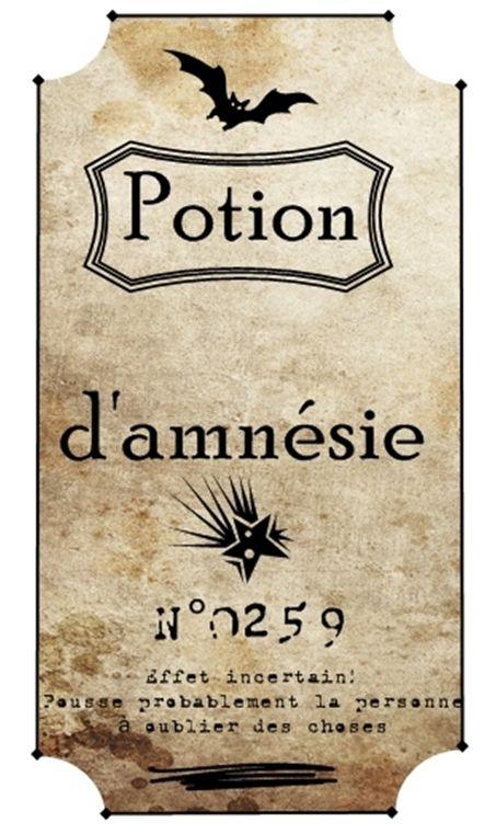 Etiquettes-potions-magiques Harry Potter