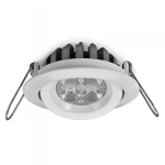 Led Downlight Lavtbyggende 5W XXLm/driver IP44