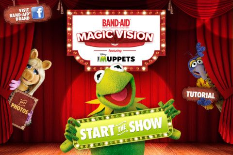 The Muppets Star in New Augmented Reality Band-AidsMuppets App, Bandaid Muppets, Band Aid Magic, Muppets Band, Bandaid Bandage, Band Aid Bandage, The Muppets, Magic Vision, Bandaid Magic