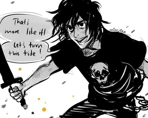 Frank heard a laugh behind him. He glanced back... ~House of Hades (Nico Di Angelo)