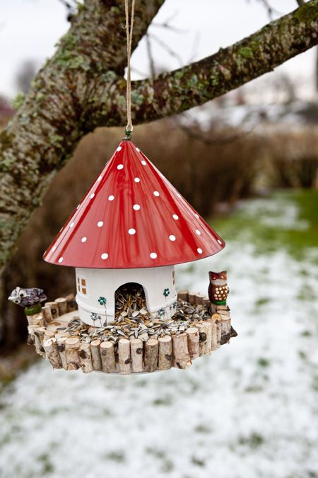 Nice This Funny Mushroom House Was Found At A Thrift Store  With Some Minor  Repairs You Can Turn It In To A Whimsical Diy Bird Feeder! Amazing Design