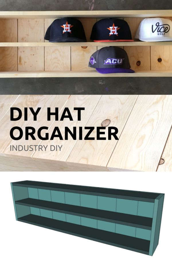 Build a baseball hat organizer with these DIY plans from Industry DIY via @industrydiy