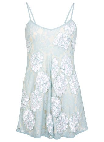 Petites Mint Floral Playsuit - View All - Going Out