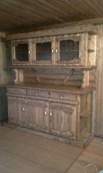Деревянные кухни под старину   Купить кухню в деревенском стиле из массива дерева