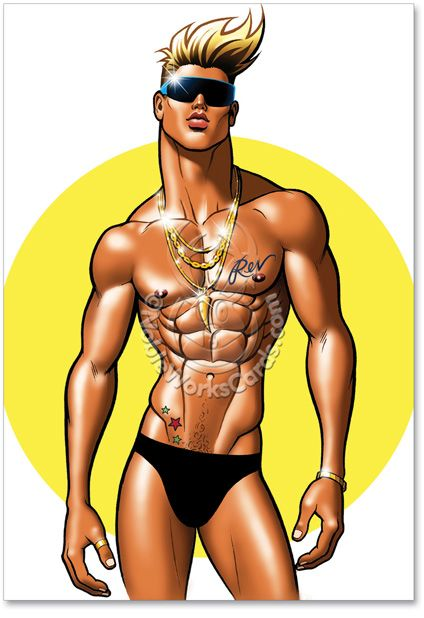 from Kymani drawings of naked hunks