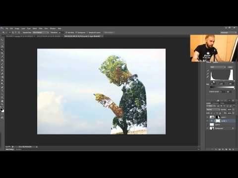 Как создать эффект двойной экспозиции в фотошопе. Урок фотошопа. Видеоуроки Pro Photoshop - YouTube