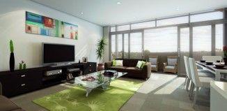 Salons modernes aménagés autour de la télévision http://moderne-house.fr/salons-modernes-television/