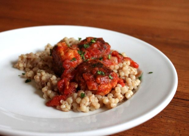 North African Meatballs.  These sound really yummy!  Make with ground turkey