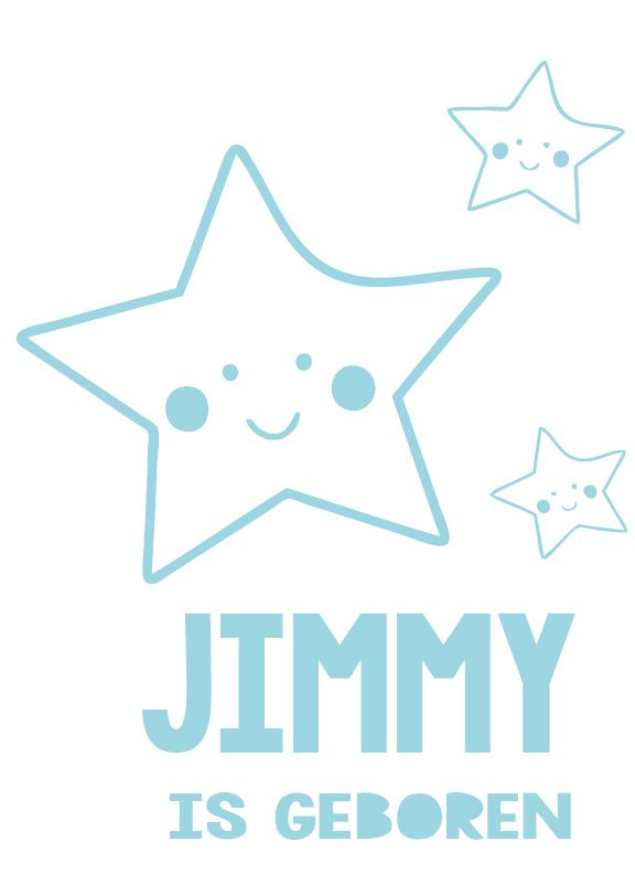 Geboortesticker type Jimmie