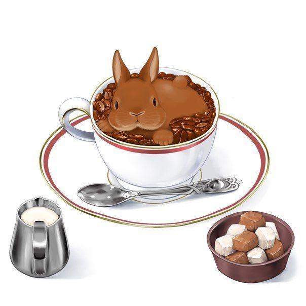 основанию картинки чашки и кролика умеете
