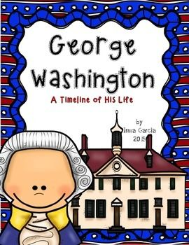 Perfect for President's Day!!A timeline of George Washington with colored picture cards. Also included  is a printable of the timeline, 3 facts about George Washington, describe George Washington, and a writing paper.Also available Abraham Lincoln!