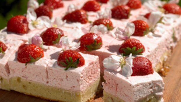 Marcipanruder med jordbærmousse | Opskrift