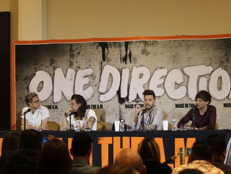 One Direction at a press conference in Mexico ❤️❤️