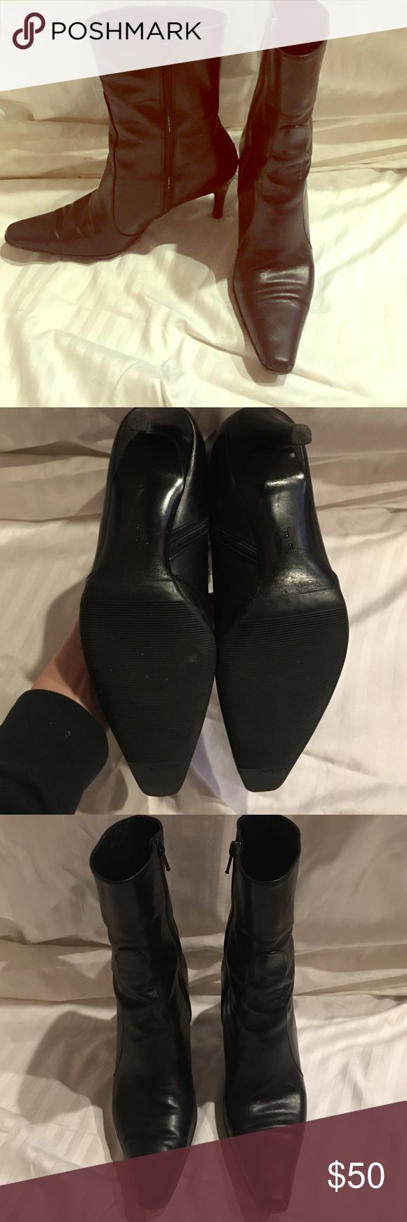 Cole Haan black leather boots Like new!! Cole Haan black leather boots, box included !! Cole Haan Shoes Ankle Boots & Booties