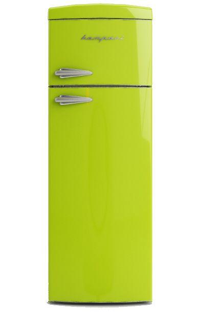 Frigo Bompani Retrò doppia porta #verde #lime #Bompani #architettura #design #arredamento #retrò #MadeInItaly #frigoriferi #Fridge #ItalianCulture #ItalianCuisine