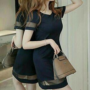 Royal dress black pakaian wanita dress party warna hitam