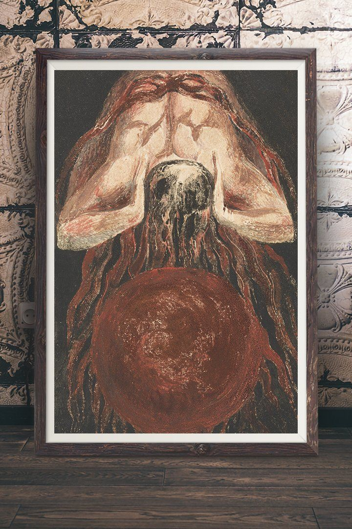 The First Book Of Urizen Painting By William Blake Vintage Wall Art With A Story At Retrograde Ink Vintage Wall Art Prints Art Prints Vintage Art Paintings