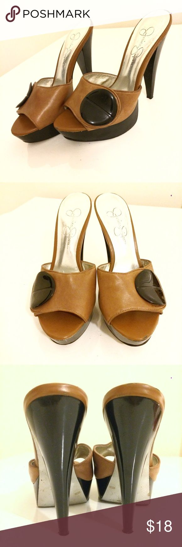 Jessica Simpson leather platform sandals! Jessica Simpson leather platform sandals! Jessica Simpson Shoes Platforms