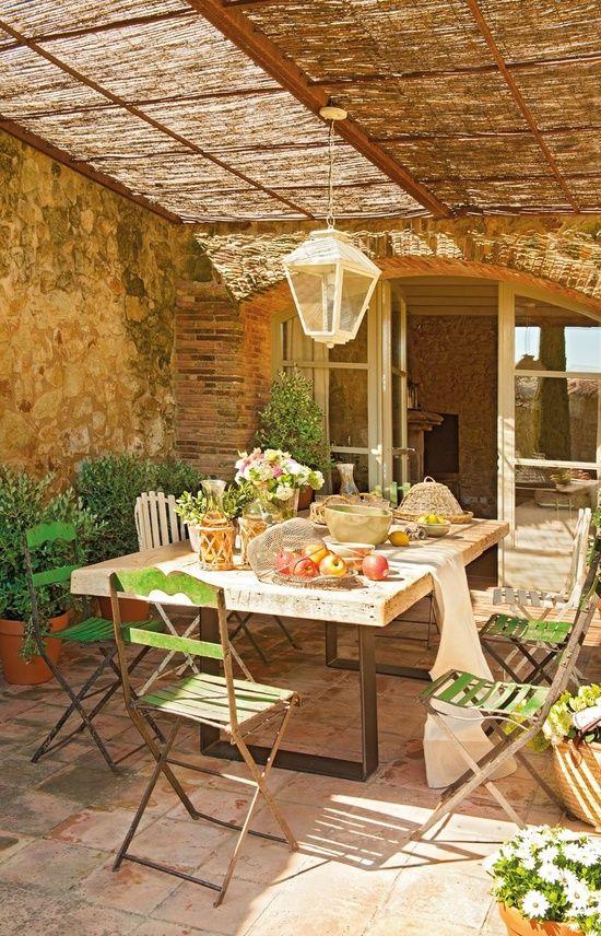 villa, decor, wood, nature, green, brown,