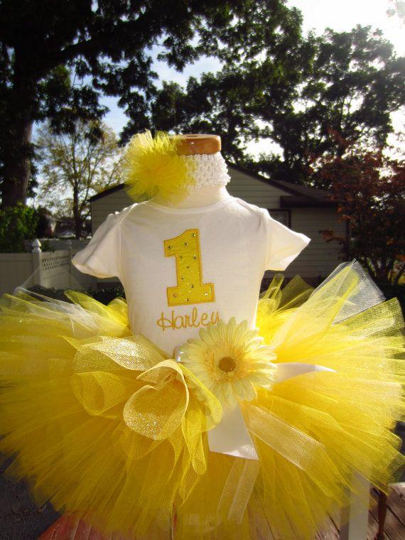 You are my sunshine first birthday tutu outfit onesie headband tutu set 9 12 18 24 2t long or short sleeves on Etsy, $44.00