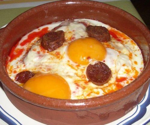 Receta de Huevos al plato