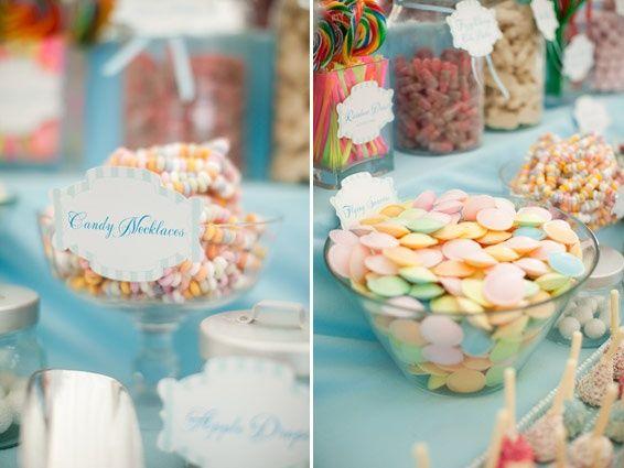 wedding candy station