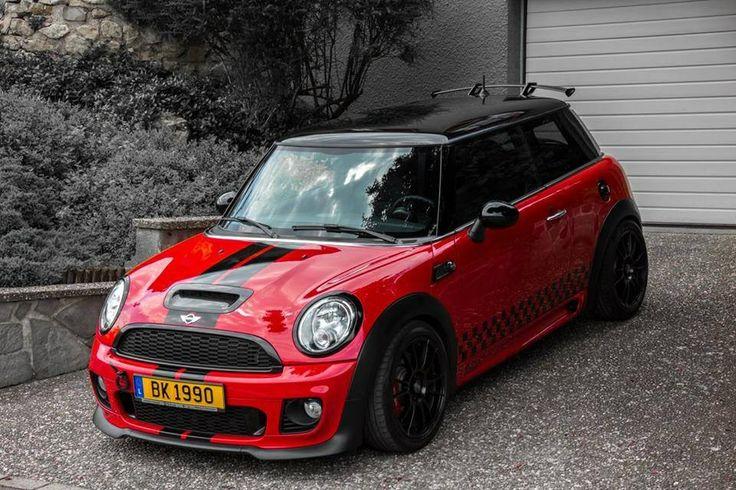 Mini Cooper, Red & Black, Bumper Cover Air Intake, Frame Rail Cover, Kick Plate, Door sill Cover