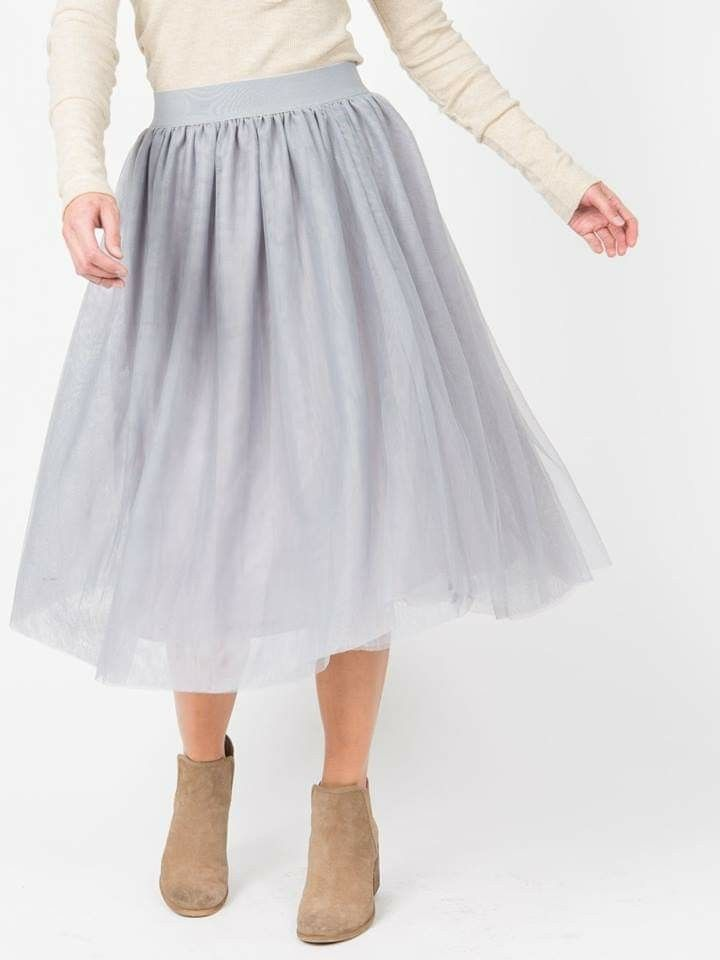 dfd19c5af6d7  tulle  agnesanddora  shop  skirt  fancy  grey