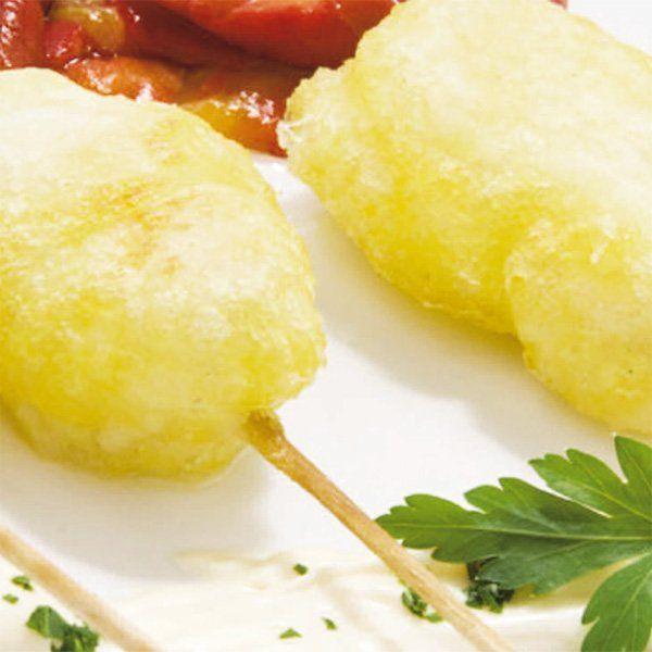 spiedini di baccà in tempura