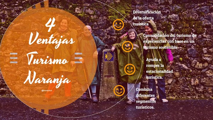 Infografía 4 ventajas del turismo naranja #TurismoNaranja #Turismo Creativo