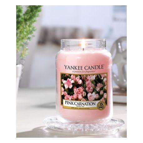 Pink Carnation Oeillet Roses - Bougie Grande Jarre Yankee Candle