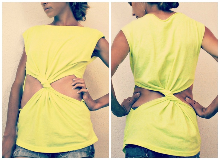 Trash To Couture: DIY Twisted Tee from tshirt...