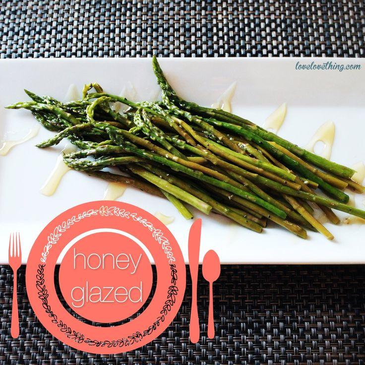 Got to try this simple, honey-glazed asparagus recipe next time I pick up some asparagus.