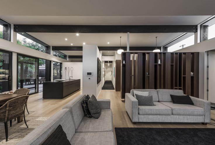 An elegance living room designed by Don Roy & Cymon Alfrey from Cymon Alrey Architects Ltd
