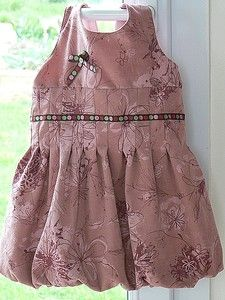 pleated bubble dress tutorial (French, no pattern given)