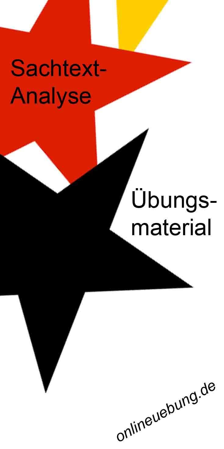 Sachtextanalyse Checkliste Musterformulierungen Ubungstexte Sachtextanalyse Ubungsmaterial Deutsch Uben